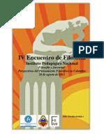 MEMORIAS IV ENCUENTRO DE FILOSOFÍA IPN 2011