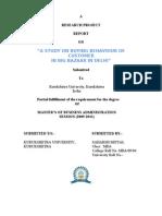 RESEARCH PROJECT REPORT ON BIG BAZAAR IN DELHI .SAHARSH.doc