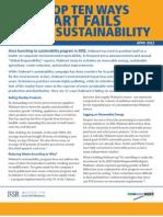 Top Ten Ways Walmart Fails on Sustainability