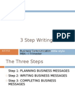 three step writing process business messages