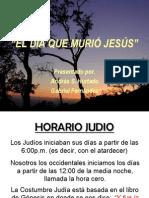 EL DIA QUE MURIÓ JESUS