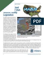 FEMA HAZUS for Wasatch Front