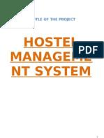 Hostal Management