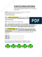 Rosemount Irish Wrestling Golf Outing 2012