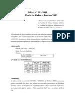 Edital nº 001-2011