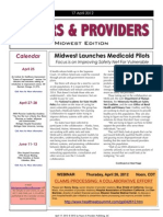 Payers & Providers Midwest Edition – Issue of April 17, 2012