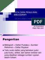 Tata Cara Penulisan Bibliografi
