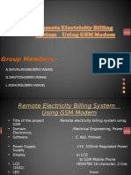 Remote Electricity Billing System Using GSM Modem2003