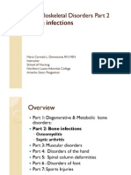 Musculoskeletal Disorders Part 2 Bone Infections