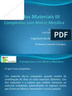 compósitos matriz metálica