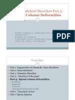 Musculoskeletal Disorders Part 5 Spinal Column Deformities