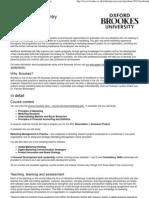 Marketing 2012 entry — Oxford Brookes University