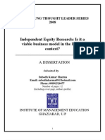 Independent Equity Research