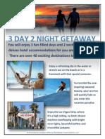 corporate 3 day 2 night getaway