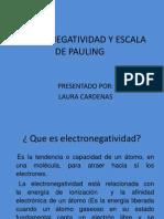 Electronegatividad y Escala de Pauling Ioj