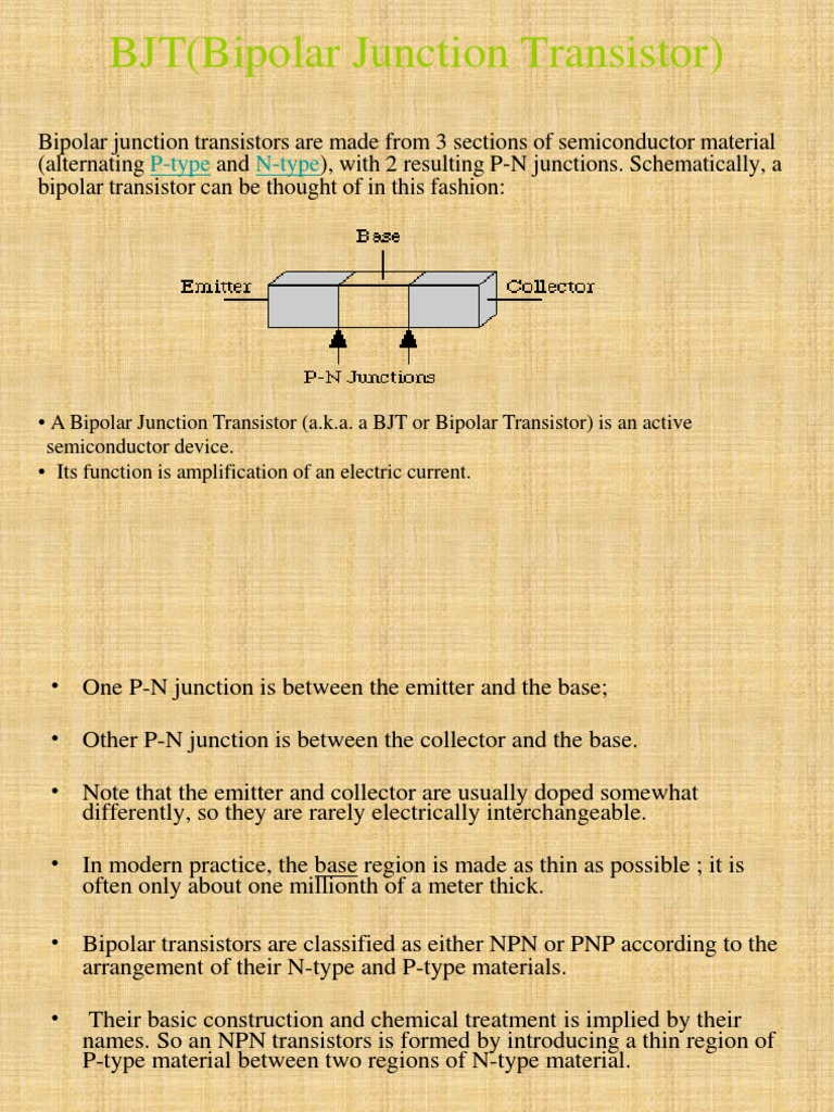 Introduction Of Bjt Bipolar Junction Transistor Kinds Transistors Are I Npn Ii Pnp