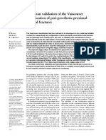 European Validation of the Vancouver Classification of Peri-prosthetic Proximal Femoral Fractures