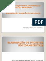 ELABORAÇÃO DE PROJETOS SÓCIOAMBIENTAIS