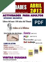 Actividades Abril 2012 Cartel