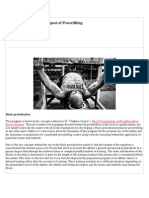 Block Periodization in the Sport of Power Lifting