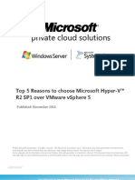 Top 5 Reasons to Choose Microsoft Hyper-V R2 SP1 Over VMware vSphere 5