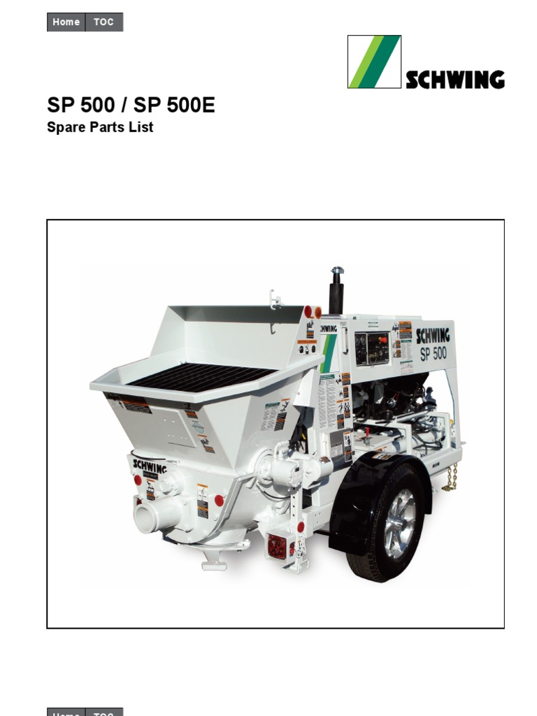 Schwing SP500 Parts