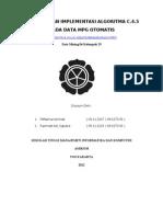 Laporan Data Mining - Analisis Algoritma C45 Pada MPG Otomatis