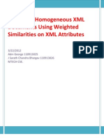Clustering Homogeneous XML Documents Using Weighted Similarities on XML Attributes 1