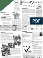 Lourdes 2012 - Le Clairon Lourdais - numéro 0 - 17 avril 2012