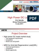 HighPowerDCLoadsMarket - Mid Internship Presentation
