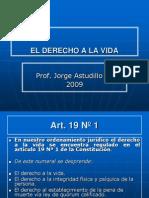 art. 19 n°1 EL DERECHO A LA VIDA