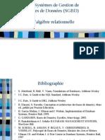 Algebre Relationnelle Cours BD Sadeg 2007