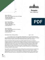Nienow Legislative Oversight Hearing Request Letter