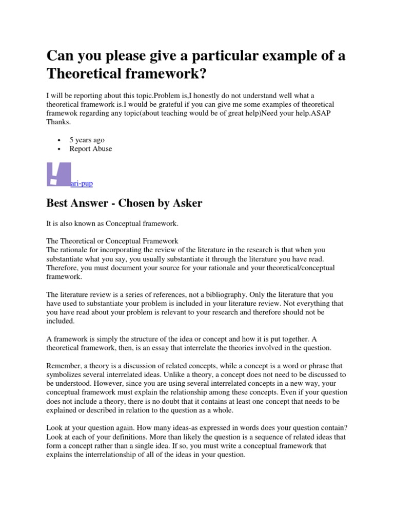 understanding of the theoretical concept essay The definition essay def-i-ni-tion (def' e-nish' en) n1 the act of defining a word, phrase, or term 2 the act of making clear and distinct 3 a.