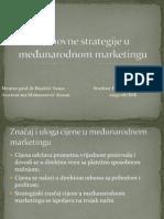 Cjenovne strategije u međunarodnom marketingu