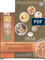 Manual de Ingredientes de Utilidad en Alimentacion Animal y Algunas Caracteristicas Microscopic As