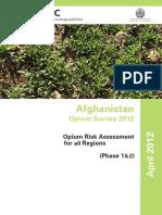 2012 UN Opium Report Afghanistan