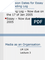 Media as an Organisation   LM124