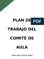 Plan de Trabajo Del Comite de Aula 2