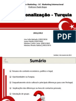 Marketing Internacional - Internacionalização Turquia