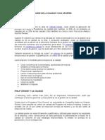INVESTIGACIÓN Y APORTES DE LOS GURÚS DE LA CALIDAD