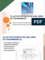FLUJO DE POTENCIA EN UNA LINEA DE TRANSMISIÓN