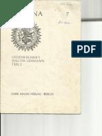 Indiana Gedenkschrift Walter Lehmann Teil 2