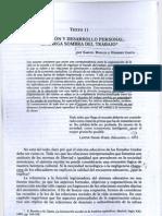Texto 11 Bowles y Gintis - Educacion y Desaarrollo Perosnal, La Larga Sombra Del Trabajo