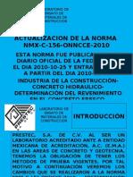 ACTUALIZACIÓN DE LA NORMA NMX-C-156-ONNCCE-2010