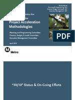 30-10 Intiative Project Acceleration Methodologies