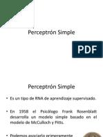Perceptrón Simple