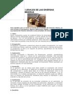Definiciones Legales de Las Diversas Actividades Mineras