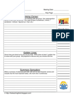 Book Club Thinking Discussion Sheet