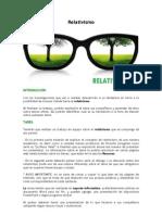 Webquest. Relativismo
